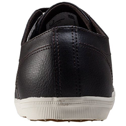 Fred Perry Heren Kingston Leer Donkere Chocolade / Pure Chocolade