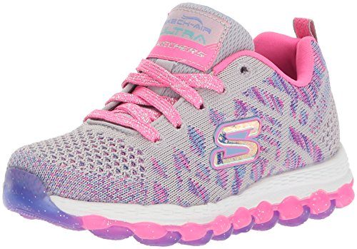 Skechers Kids Girls' Skech-Air Ultra-Kick N'Knit Sneaker,Gray/Multi,