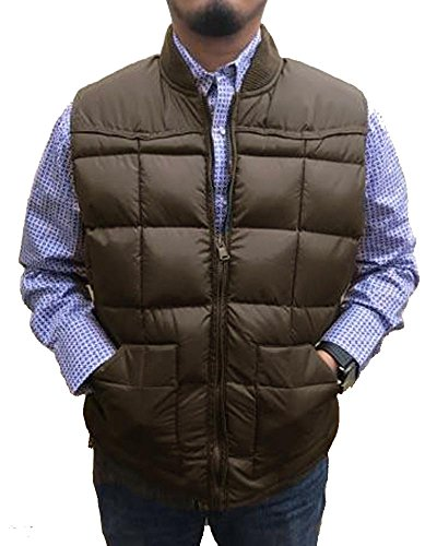 Men's Brown Poly/Down Western Vest (Large) (Vest Western Down)