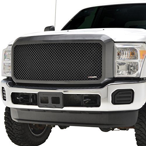 EAG 11-16 Ford F250 F350 Super Duty Replacement Grille ABS Grill With Shell Carbon Fiber Look