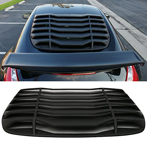 Windshiled Louver Fits 2009-2017 Nissan 370Z   IKON Style Rear Window Louvers Cover Sun Shade ABS by IKON MOTORSPORTS   2010 2011 2012 2013 2014 2015 2016