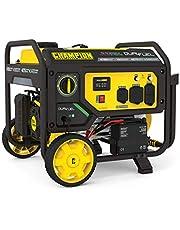 Champion Power Equipment 201052 4750/3800-Watt Dual Fuel Portable Generator with Electric Start, Wheel Kit