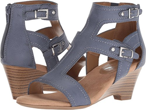 Aerosoles A2 by Women's Maypole Chambray Blue Combo 10 B US (Chambray Footwear)