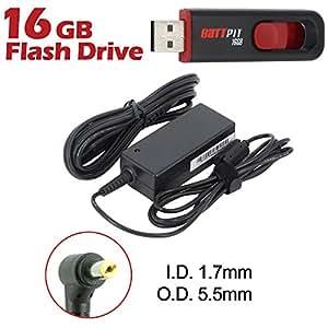 Battpit Cargador Adaptador de repuesto para portátiles Dell FSP030-DQDA1 con cable alimentación Con memoria USB de 16GB GRATUITA