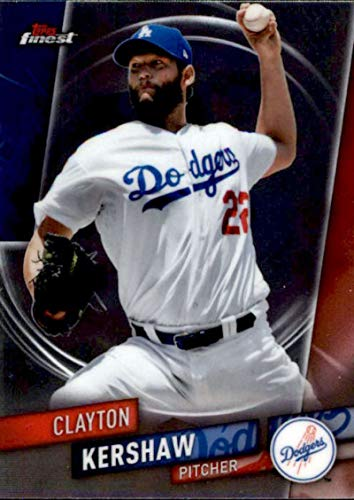 2019 Finest #23 Clayton Kershaw Los Angeles Dodgers MLB Baseball Trading Card