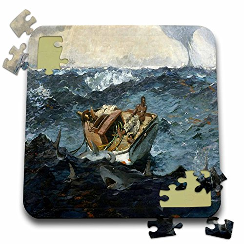 3dRose Florene - Winslow Homer Paintings - Print of Vintage Winslow Homer Painting The Gulf Stream - 10x10 Inch Puzzle (pzl_196343_2)