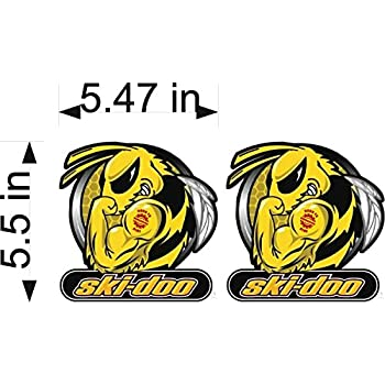 "SNOWMOBILE SINGLE 5.5/"" Decal TRAILER DECAL Ski-Doo Chocking Arctic Cat"