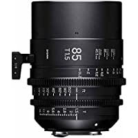 Sigma T1.5 Cine 85mm Full Frame High Speed Prime Lens with Canon EF Mount, 3 Minimum Focus Distance