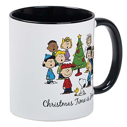 - CafePress The Peanuts Gang: Christmas Is Here Mug Unique Coffee Mug, Coffee Cup