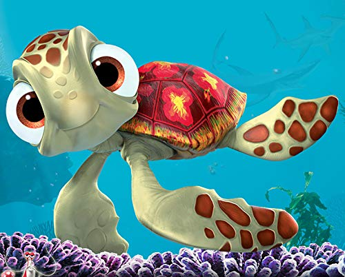 (Squirt Finding Nemo Iron On Transfer for T-Shirts & Other Light Color Fabrics #2)