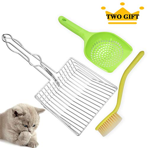 TANDD Cat Litter Scoop, Large Size Stainless Steel Wire Litter Scoop, Long Handle Litter Box Scoop – Fast Sifter and…