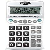 Hoopson PS-1048B, Calculadora de Mesa, 12 Dígitos, Pilha AA Grande, Prata