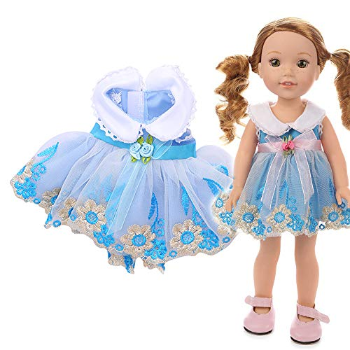 Denzar 18in Doll Clothes,18 Inch Alive Baby Doll Handmade Lovely Dress Clothes Outfits Costumes Dolly Pretty Doll Clothes -