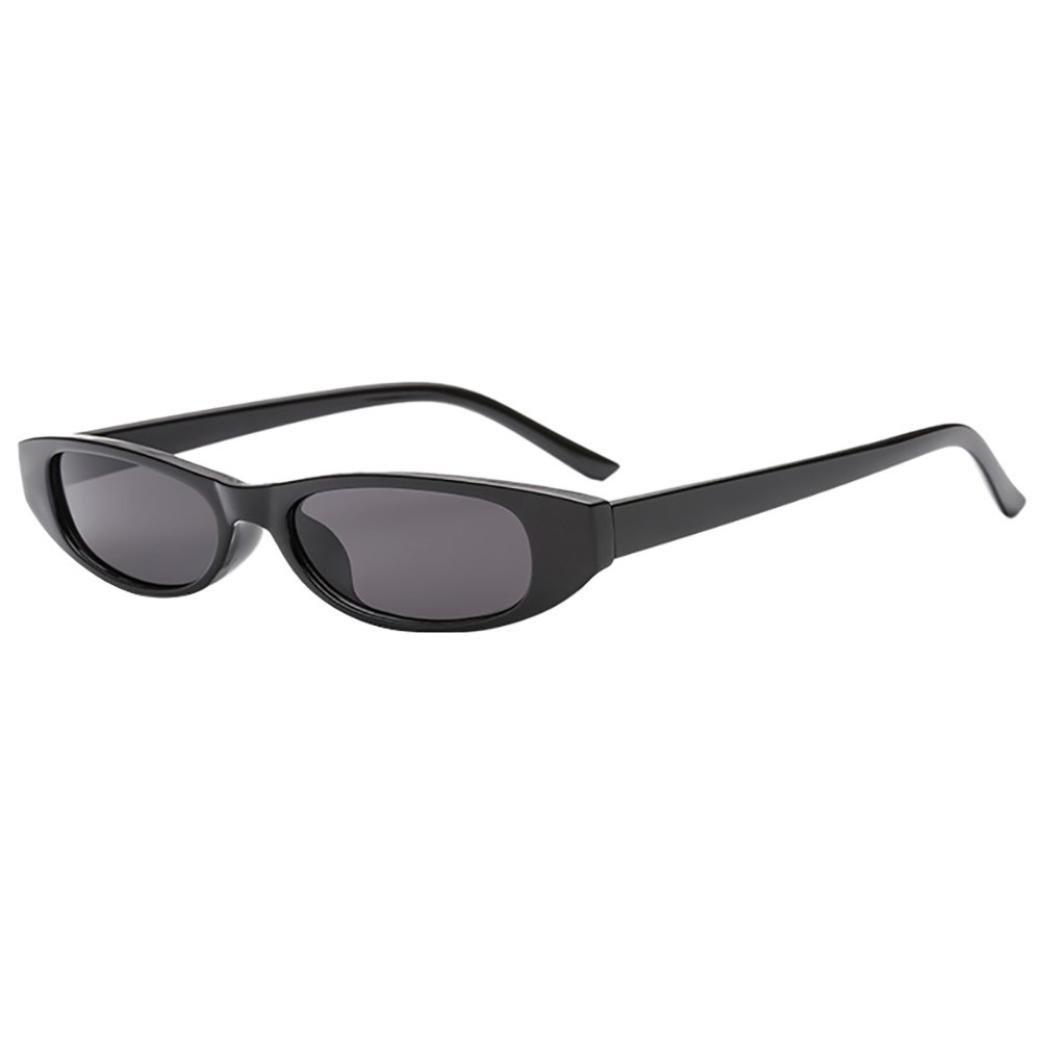 2018 Sunglasses,Sunfei  Retro Vintage   Clout Cat Rapper Oval Shades Grunge Glasses Unisex Sunglasses (A)