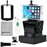 Yunteng YT-260 Automatic Motorized Rotating Stabilizer Pan Tilt Head Mount + Wireless Remote Control + Phone Mount + Adapter for Gopro 1 2 3 3+ 4 iPhone 6 plus 6 5s 5g 5 4s 4 Samsung S2 S3 S4 Note 2 3 4 Sony ILCE-QX1L/Sony QX10/Sony QX100/Sony QX30/Sony Kwi, Casio ZR1200