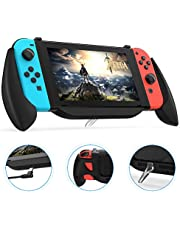 Charging Grip Case for Nintendo Switch, Vivefox Ergonomic Switch Charging Case Quick Charge Compatible 5V 2A Protective Case for Nintendo Switch Charge and Play Kit 2019 Latest Version, Frosted Black