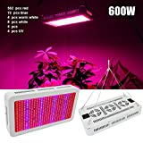 Cheap Derlights 600W Full Spectrum High Power Led grow Light, Red & Blue Mixed with UV+IR 85-265V, For Vegetable Flower Budding Horticulture Indoor Greenhouse Botanic Garden Hydroponic Growth Lamp (600W)