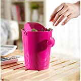 OOFYHOME Desktop trash can, creative mini, snack home trash can , D