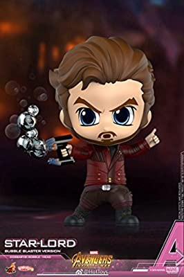 Hot Toys COSBABY ORIGINAL STAR LORD BUBBLE BLASTER VERSION BOBBLE HEAD FIGURE AVENGERS 3 INFINITY WAR MARVEL DISNEY COLLECTIBLES TOYS COSB495
