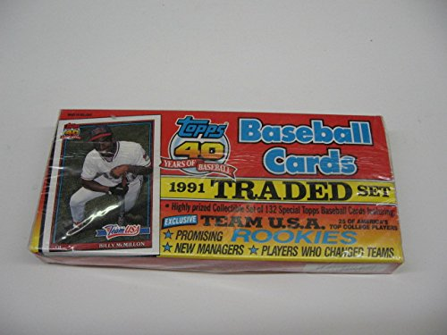 Topps Traded Factory (1991 Topps Baseball Traded Factory Set (Flat))