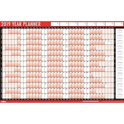 Calendario e agenda 2019 da parete, plastificato, formato A1, con bollini adesivi e penna cancellabile scotrade
