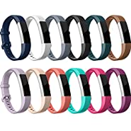 RedTaro Replacement Bands for both Fitbit Alta HR and Fitbit Alta,12 Classic Colors, Small Large
