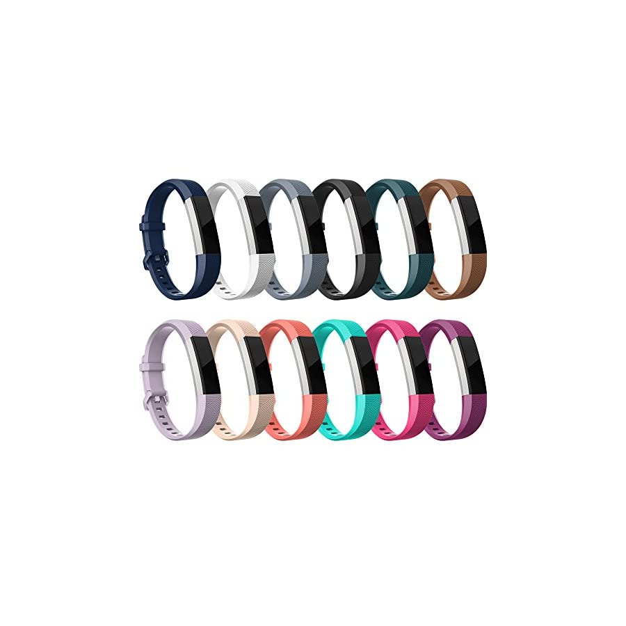 RedTaro for Fitbit Alta HR and Fitbit Alta Bands Pack of 12 Colors Large, Adjustable Replacement Accessory Bands/Straps/Bracelets for Fitbit Alta HR/Fitbit Alta for Women/Men