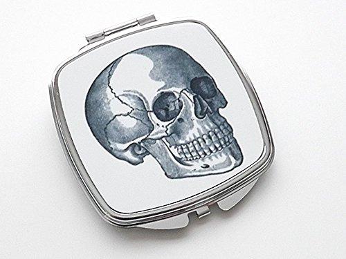 Human Skull Compact Mirror anatomy nurse medical student goth gift