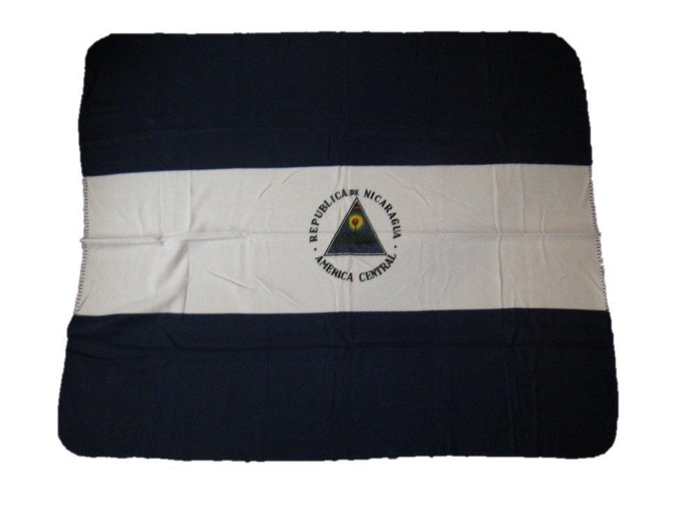 ニカラグアフラグ50 x 60 Polar Fleece Blanket Throw B01MU8WXAO