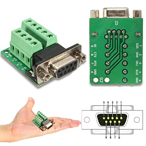Rs 232 Box Interface - daffodilblob DB9 9-pin Female Adapter RS-232 Serial Port Interface Breakout Board Connector 1.50