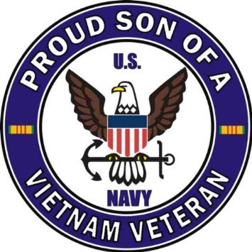 Amazon Com Us Navy Proud Son Of A Vietnam Veteran Decal Sticker