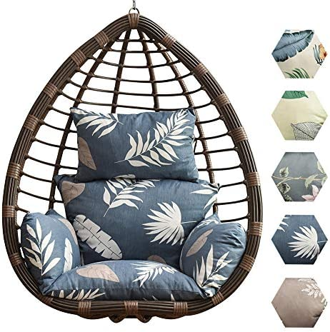 judysen Hanging Egg Chair Cushion, Swing Chair Cushion Thicken Egg Seat Cushion Indoor Outdoor Patio Hanging Egg Hammock Seat Cushion Hanging Basket Chair Cushions – Non-Slip Washable 04