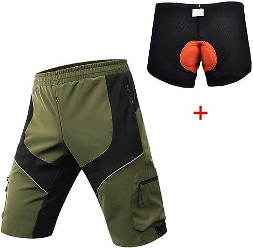 BINGFENG Pantalones Cortos De Ciclismo De Montaña para Hombre ...