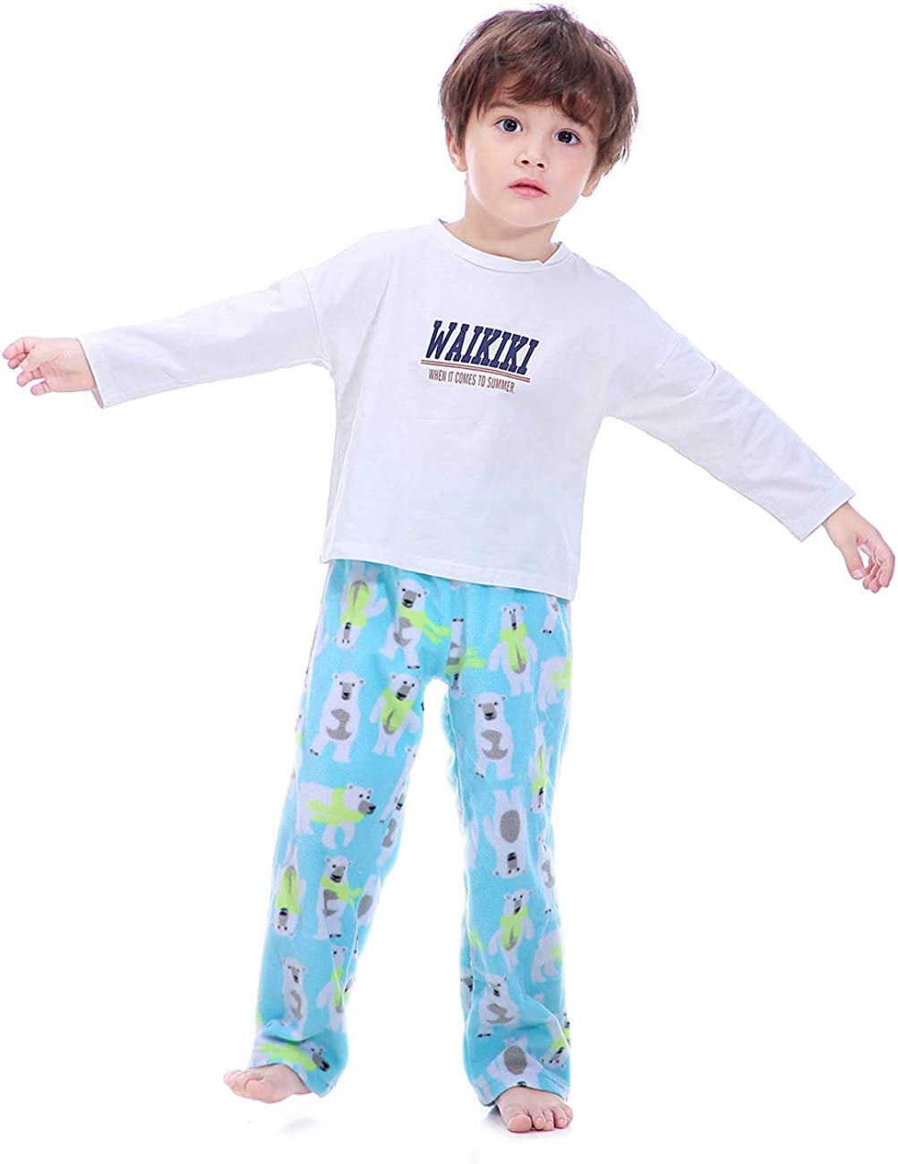 Soft Casual Loose Fleece Lounge Bottoms Size 2T 3T 4T OLEH-OLEH Baby and Toddler Boy/'s Pajama Pants
