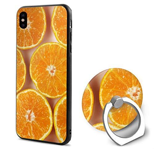(Orange iPhone X Mobile Phone Shell Shell Ring Bracket Cover)