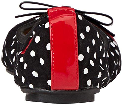 Butterfly Twists Cara Negro Rojo Blanco Mujeres Plano Bailarinas Zapatos