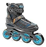 Roces 400817 Men's Model Xenon 2.0 Fitness Inline Skate, US 9, Black/Cyan