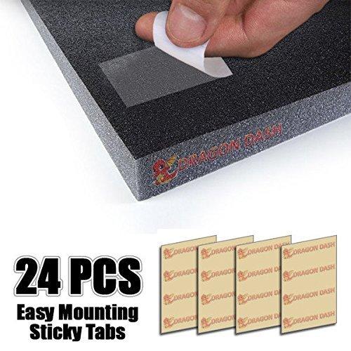 Lot de 24 Super Dash bande adh/ésive double face Transparent acoustique en mousse Montage facile Sticky Tablettes