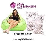 Casa Copenhagen 2 Kg Premium A-Grade Bean Bag Refill/Filler