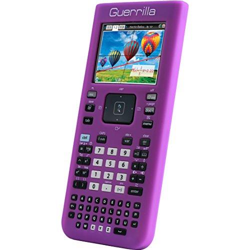 Guerrilla Silicone Case for Texas Instruments TI Nspire CX/CX CAS Graphing Calculator, Purple (Ti Nspire Cx Cas Accessories)