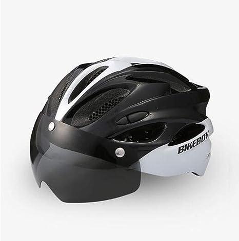 WZHCC Casco Protector, Casco De Ciclismo Gafas De Bicicleta De ...