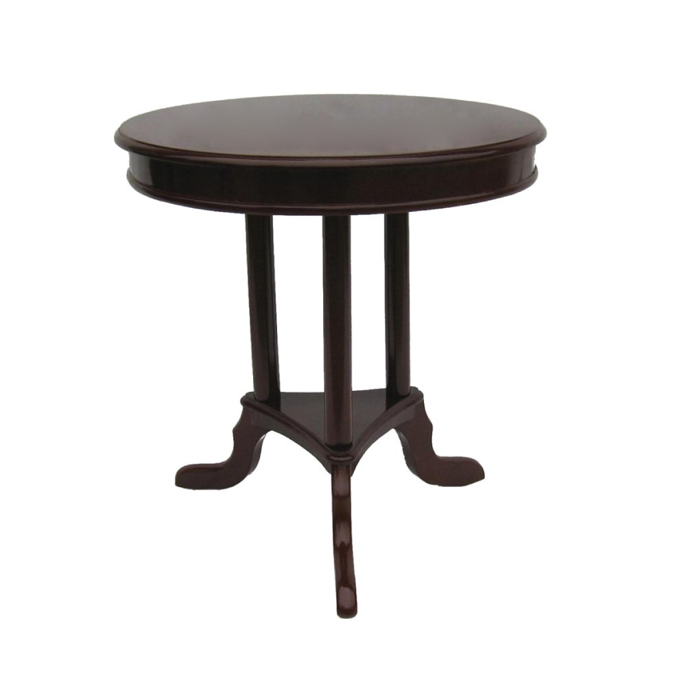 Amazon.com: Home Source Industries AF070 Early American Round Accent Table,  Mahogany: Kitchen U0026 Dining