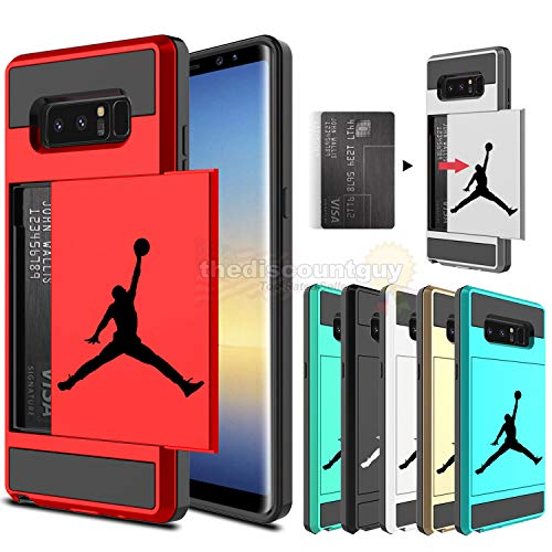 -  Samsung Galaxy S10e, S10 & S10+ Dual-Layered Credit Card ID Storage Basketball Case Michael Jordan Money Cash Slide Wallet Jumpman Air Lebron Gold Best 360 Protective Cover  (Black & Red, S10+)