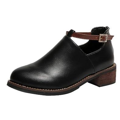 Botas de Cuero de clásico Zapatos para Mujer QinMM Botines de Invierno Casual Mocasines: Amazon.es: Zapatos y complementos
