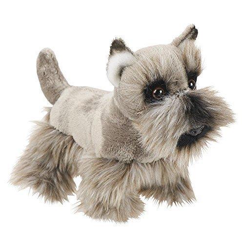 FAO Schwarz 6.5 inch Miniature Toy Plush Scottish Terrier - Gray