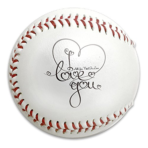 Fashion Valentines Day All You Need Is Love Heart Baseball Baseballs For Practice, Gifts