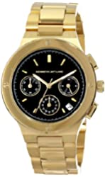 Kenneth Jay Lane Women's KJLANE-2104  Chronograph Black Dial Gold Ion-Plated Stainless Steel Watch
