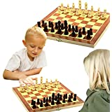 Toy Cubby Kids Foldable Wooden Chess Board Game