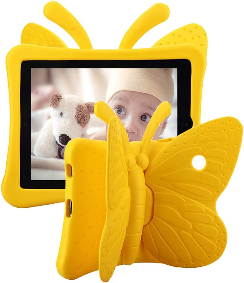 Tading Kids Case for iPad 4 3 2, Lightweight Kidproof EVA Foam Protective Cover with Stand for Apple iPad 2nd 3rd 4th Generation Tablet (Not Fit New iPad 2017 2018 Air Pro) – Yellow