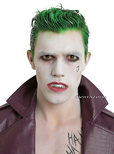 NEW! Suicide Squad The Joker Fake Silver Teeth Grill Dentures Dents Costume Cosplay